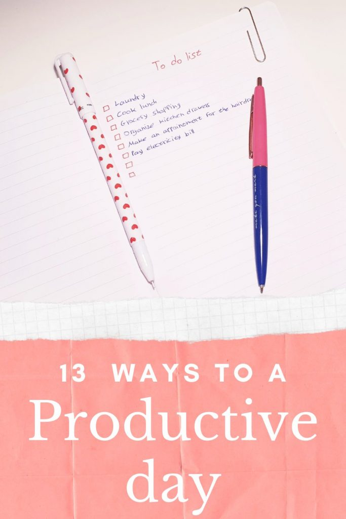 13 ways to a productive day